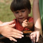 Child with compost